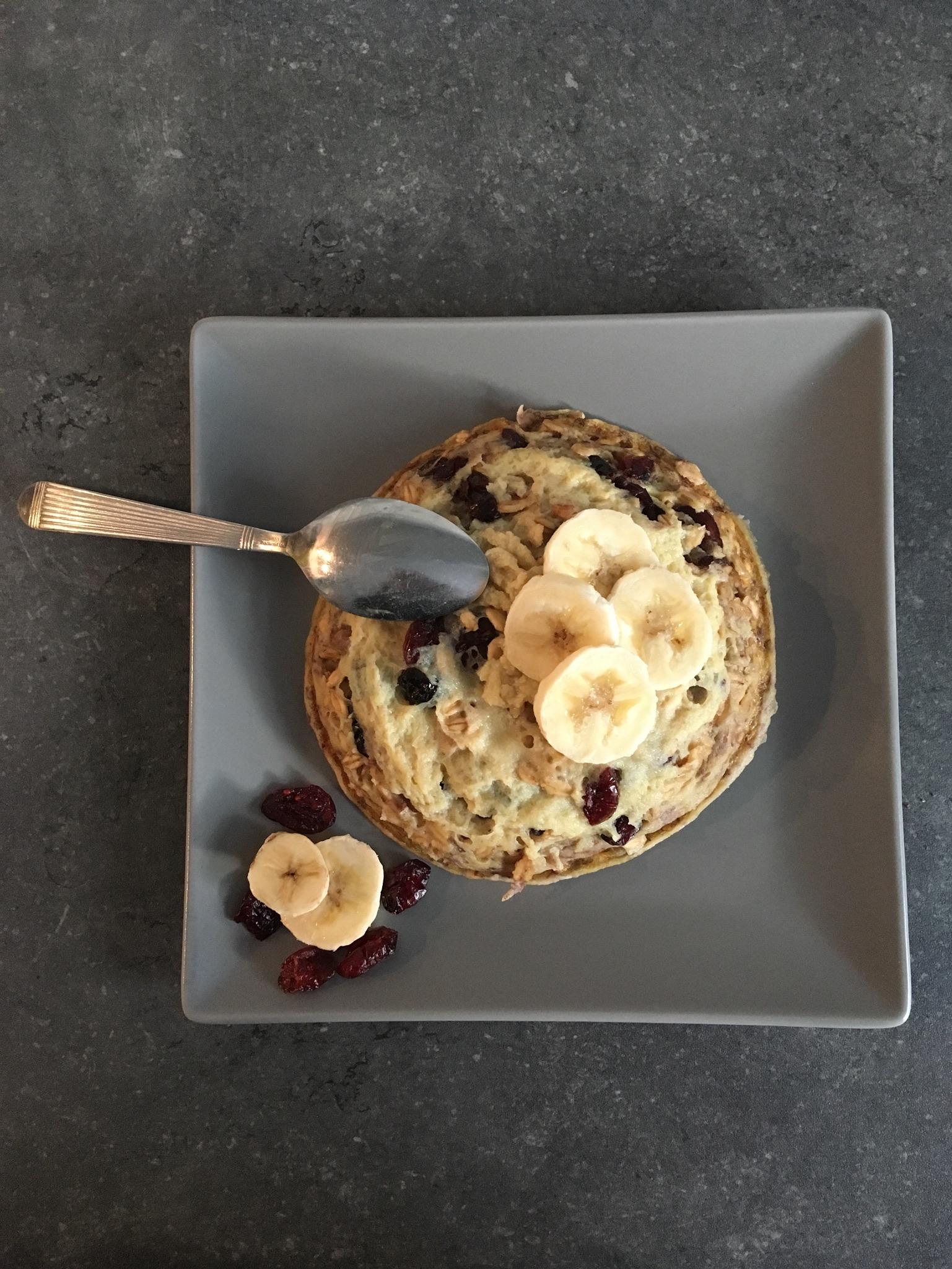 Bowlcake banane cranberries
