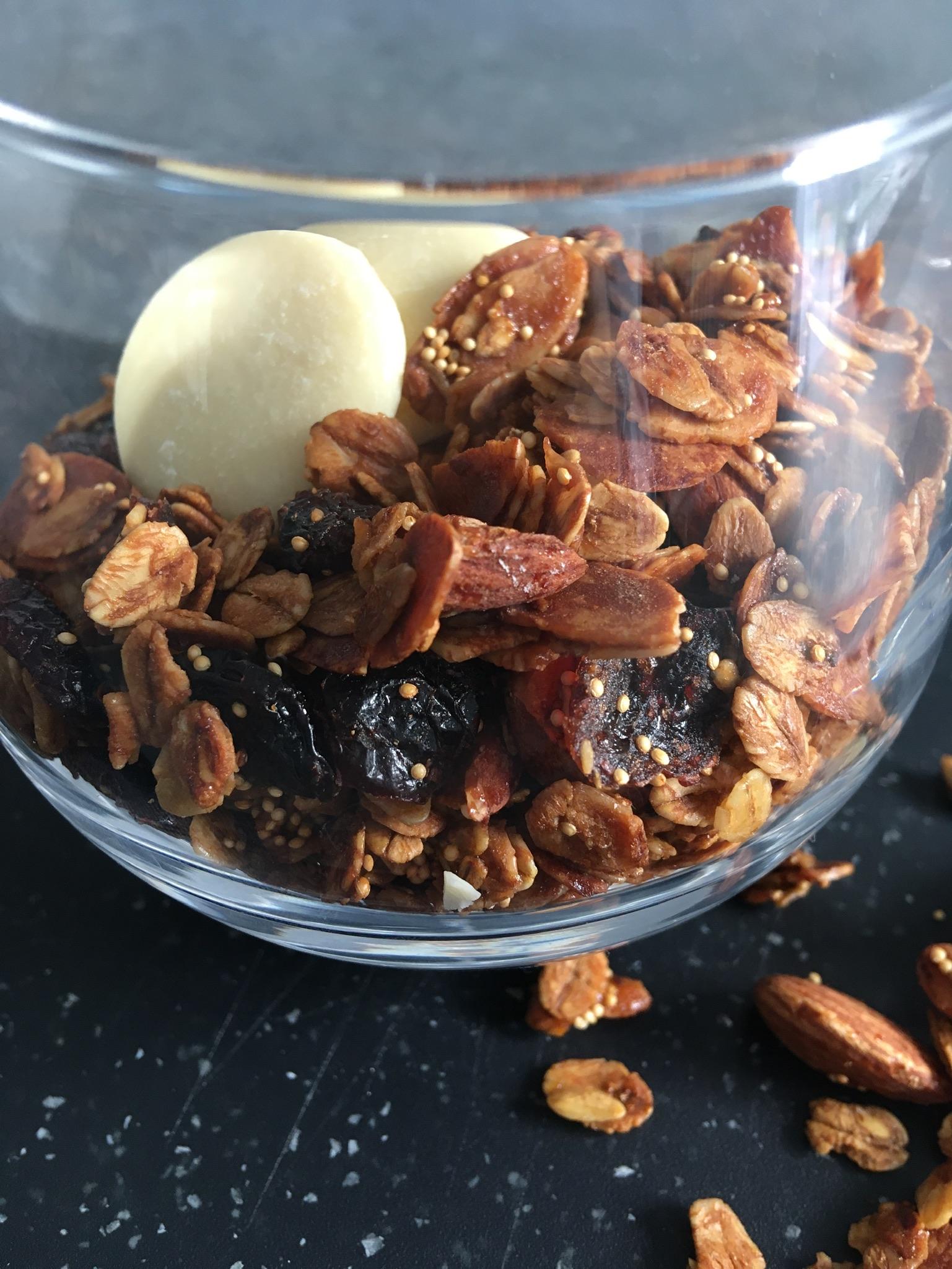 Granola choco-cranberries