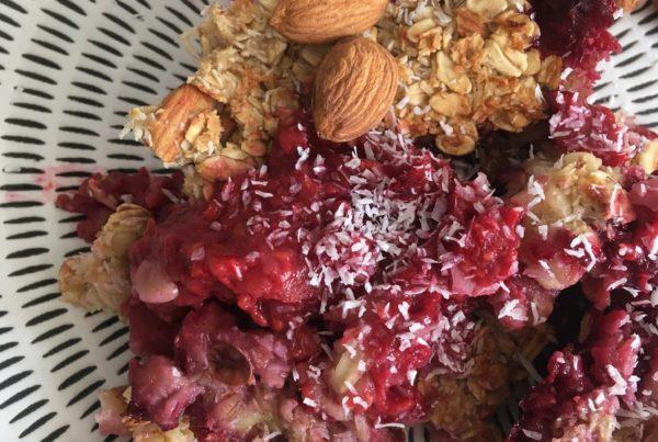 Crumble pomme-framboises