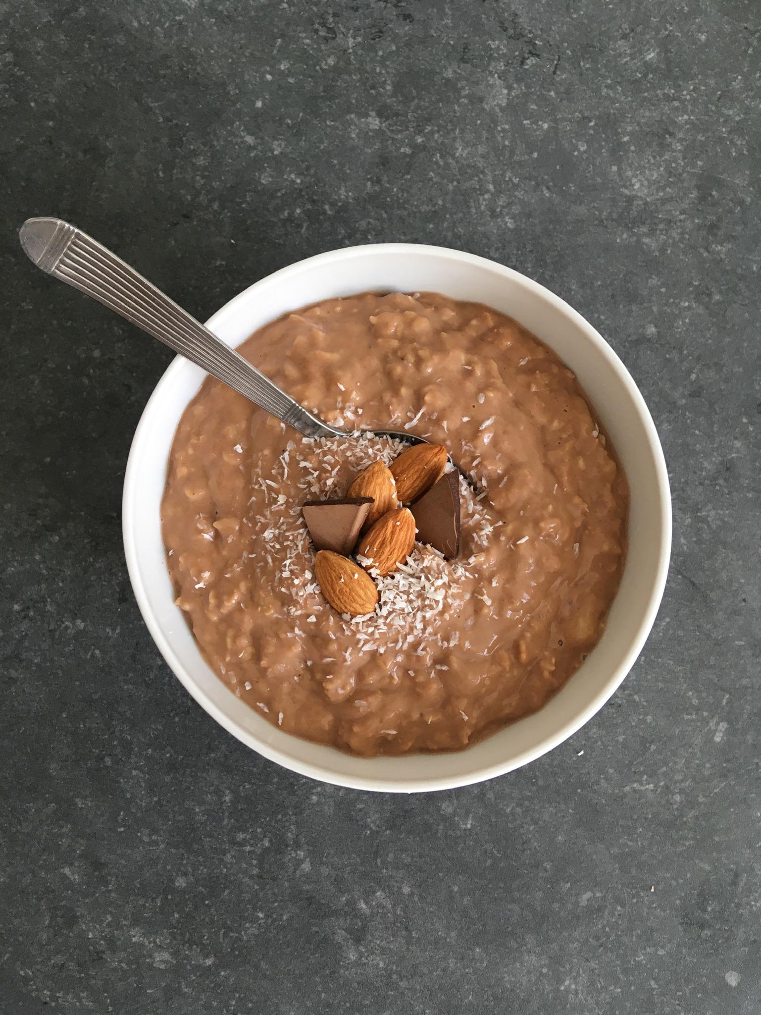 Porridge chocolat
